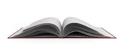 Open book 3d render on white background. Open book 3d render on white Stock Image
