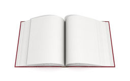 Open book 3d render on white background. Open book 3d render on white Stock Photos