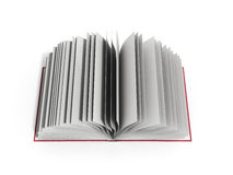 Open book 3d render on white background. Open book 3d render on white Royalty Free Stock Photography