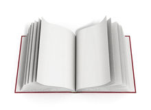 Open book 3d render on white background. Open book 3d render on white Stock Photography