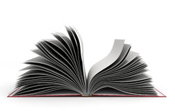 Open book 3d render on white background. Open book 3d render on white Stock Images