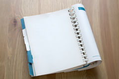 Open book on desk background Royalty Free Stock Photo