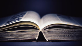 Open Book Details Stock Photography
