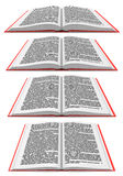 Open book in different perspectives Royalty Free Stock Images