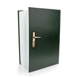 Open book and doorknob symbol of gaining knowledge and wisdom. Stock Photography