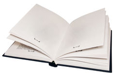 The open book, empty pages. Stock Photos