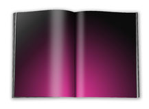 Open book with empty pages with a paper Royalty Free Stock Images