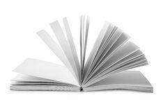 Book with fanned pages isolated Stock Image