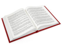 Open book with fictitious text Stock Photography