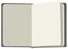 Open book first flyleaf. Isolated illustration in vector format Royalty Free Stock Images