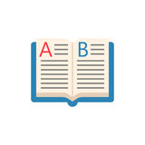 Open book flat icon, education and school element Stock Image