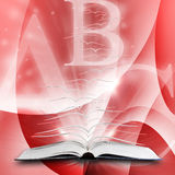 Open book with flying pages Royalty Free Stock Photo