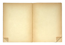 Open book with folded page corners Royalty Free Stock Photos