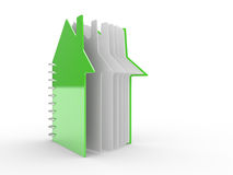 Open book in the form of the house Royalty Free Stock Images