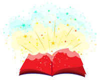 Open book full of magic Royalty Free Stock Images