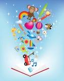 Open book fun reading illustration Stock Image