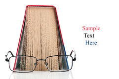 Open book and glasses Royalty Free Stock Images