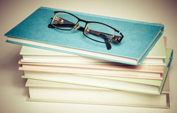 Open book and glasses Royalty Free Stock Photography