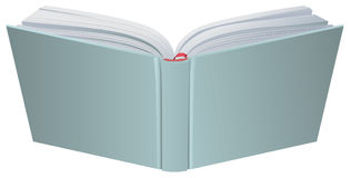 Open book hardcover 3d realistic vector illustration. Isolated on white Royalty Free Stock Photography