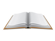 Open book hardcover isolated Royalty Free Stock Photos