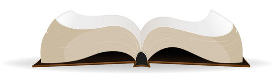 Open book. Open  hardcover book on a white background Stock Images
