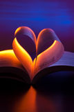 Open book in heart shape Royalty Free Stock Image