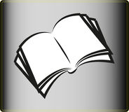 Open Book icon Royalty Free Stock Photography