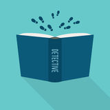 Open book icon. Concept of detective, literary fiction genre. Vector Royalty Free Stock Photo