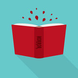 Open book icon. Concept of horror, literary fiction genre. Vector Stock Photo