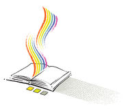 Open book icon, freehand drawing Stock Photos