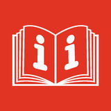 The open book icon. Manual and tutorial, instruction, encyclopedia symbol. Flat Stock Photo