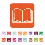 The open book icon. Manual and tutorial, instruction symbol. Flat Royalty Free Stock Photography
