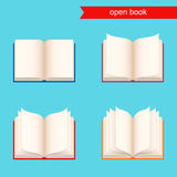 Open book.  icon set. Stock Photography