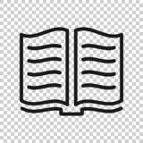 Open book icon in transparent style. Literature vector illustration on isolated background. Library business concept.  vector illustration