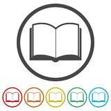 Open book icon, vector book icon, vector illustration, 6 Colors Included. Simple vector icons set royalty free illustration