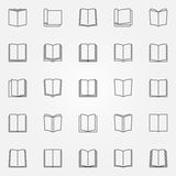 Open book icons set Royalty Free Stock Photo