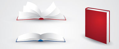 Open book illustrations Royalty Free Stock Photography