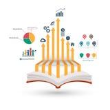 Open book infographic Stock Photos