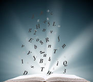 Open book information Stock Images