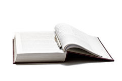 Open book isolated Royalty Free Stock Photo