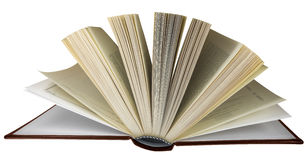 Open book isolated - brown Royalty Free Stock Images