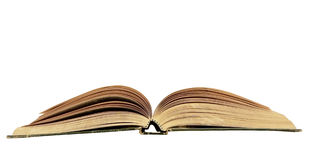 Open book isolated with copy space Stock Photo
