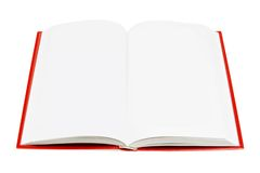Open Book (isolated on white). The open empty book with text on a white background with a pretty shadow Stock Photos