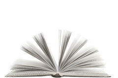 Open book with isolated Royalty Free Stock Images