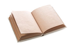 Open book. Isolated on the white background Royalty Free Stock Photos