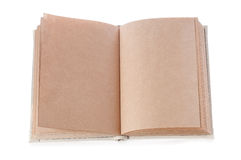 Open book. Isolated on the white background Stock Photos