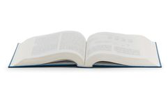 Open book isolated on the white background. Open book  isolated on the white background Royalty Free Stock Photography