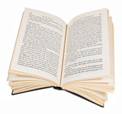 Open book isolated on white background Stock Image