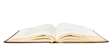 Open book isolated on white background Royalty Free Stock Image