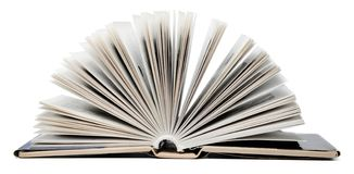 Open book on an isolated white background. royalty free stock photo